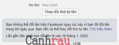 Cách đổi tên facebook trước 60 ngày hình 10