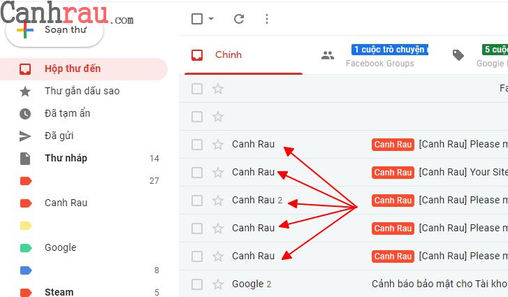 Cách đổi tên tài khoản gmail hình 1