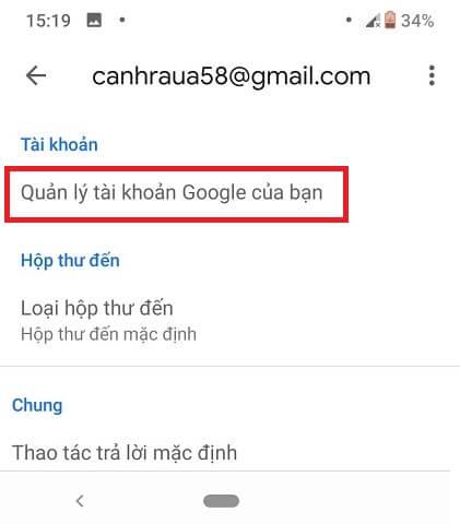 Cách đổi tên tài khoản gmail hình 3
