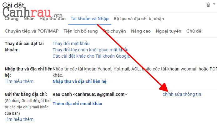 Cách đổi tên tài khoản gmail hình 6