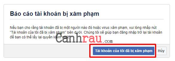 Cách khôi phục mật khẩu facebook khi bị hack hình 9