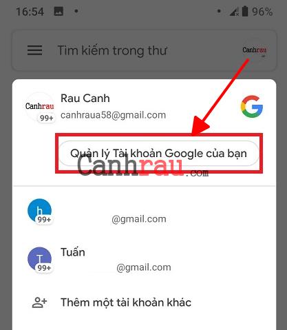Cách xóa tài khoản gmail và google hình 12