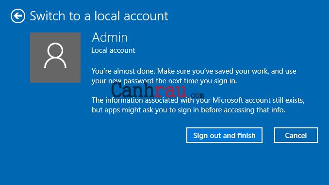 Cách xóa tài khoản microsoft email khỏi windows 10 hình 12