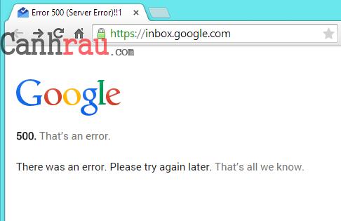 Lỗi 500 error là gì và cách sửa lỗi hình 1