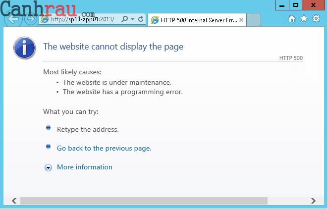 Lỗi 500 error là gì và cách sửa lỗi hình 4