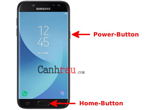 Cách chụp màn hình điện thoại Samsung hình 2