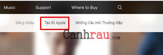 Cách tạo tài khoản Apple ID hình 1
