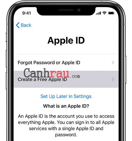 Cách tạo tài khoản Apple ID hình 2