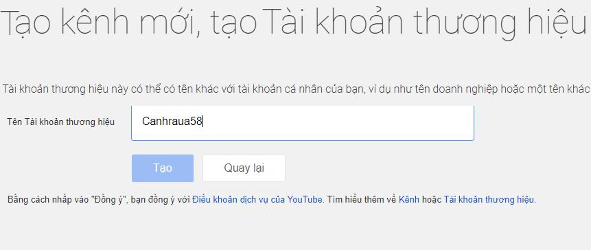 Cách tạo tài khoản Youtube mới nhất hình 7