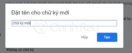 Hướng dẫn cách tạo chữ ký trong Gmail hình 3