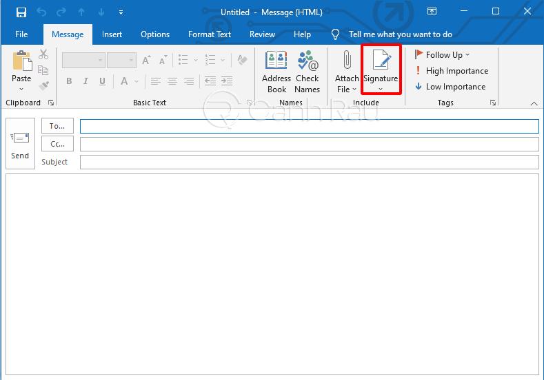 Hướng dẫn cách tạo chữ ký trong Outlook hình 2