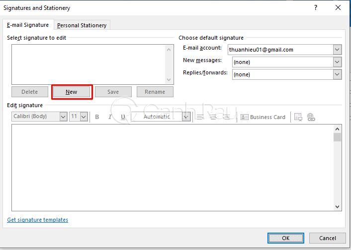 Hướng dẫn cách tạo chữ ký trong Outlook hình 3