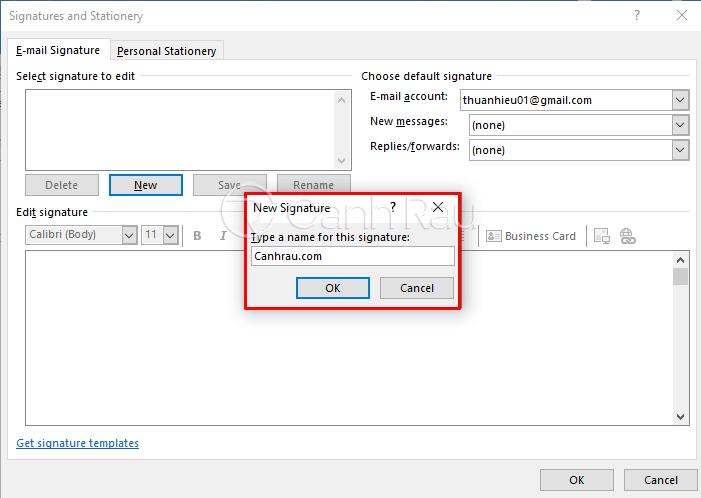 Hướng dẫn cách tạo chữ ký trong Outlook hình 4