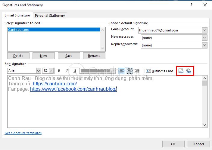 Hướng dẫn cách tạo chữ ký trong Outlook hình 6