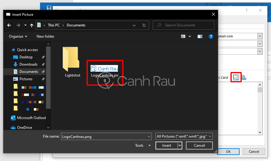 Hướng dẫn cách tạo chữ ký trong Outlook hình 7