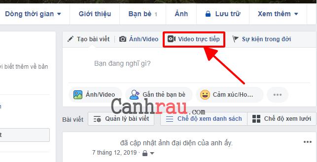 Hướng dẫn livestream trên Facebook hình 14