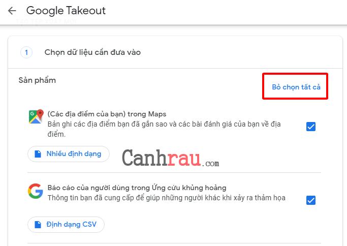 Hướng dẫn sử dụng Google Takeout hình 1