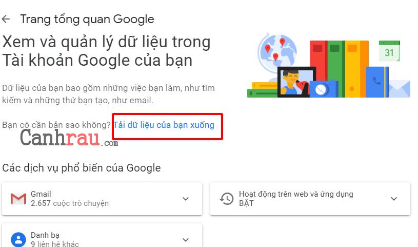 Hướng dẫn sử dụng Google Takeout hình 10