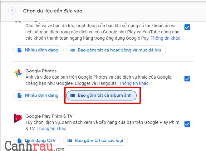 Hướng dẫn sử dụng Google Takeout hình 2