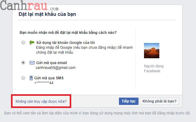 Hướng dẫn sửa lỗi đăng nhập Facebook hình 11