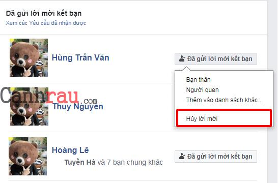 Cách hủy tất cả lời mời Facebook mà bạn đã gửi hình 3