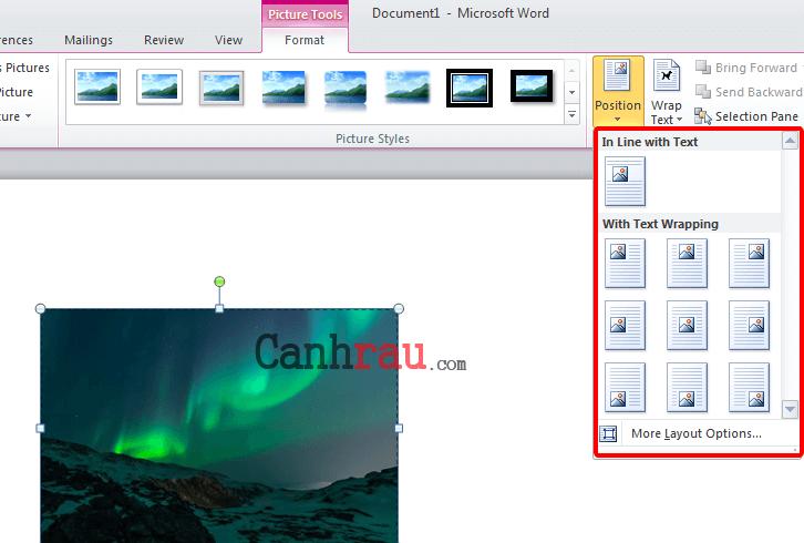Cách chèn hình ảnh trong Word hình 16