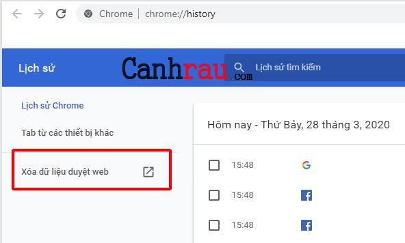 Cách xóa lịch sử duyệt web tìm kiếm của Google hình 6