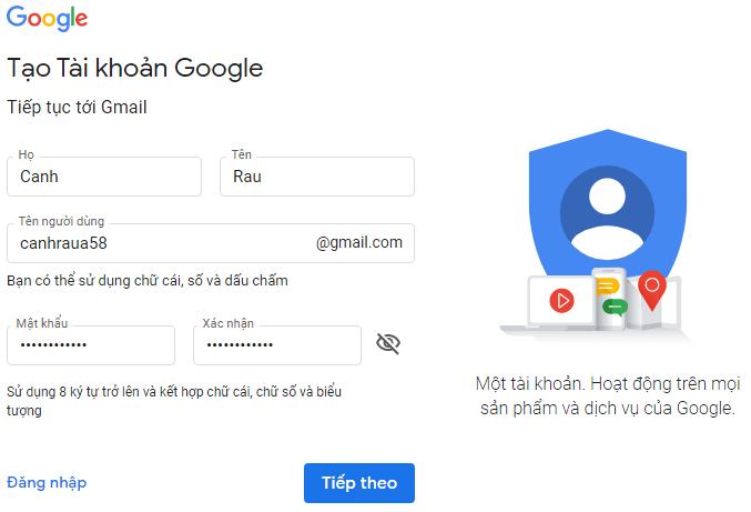 Hướng dẫn cách tạo tài khoản Email hình 5