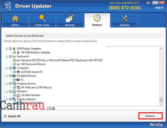 Top phần mềm cập nhật driver hình 9