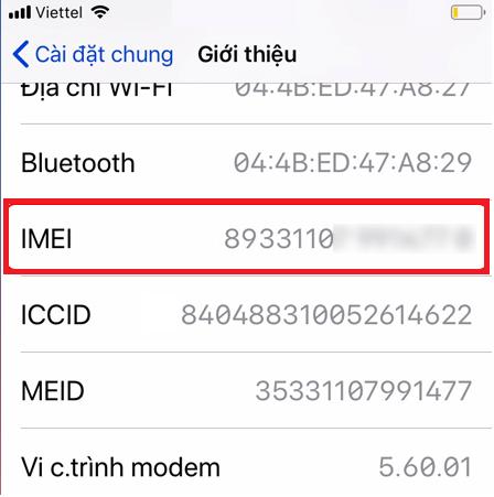 Cách check imei iphone hình 2