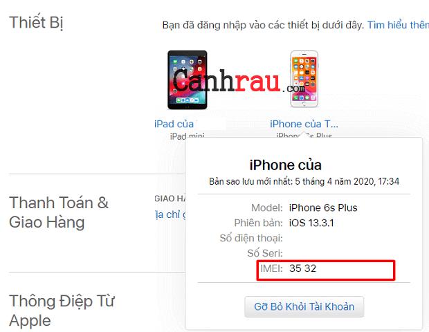 Cách check imei iphone hình 9