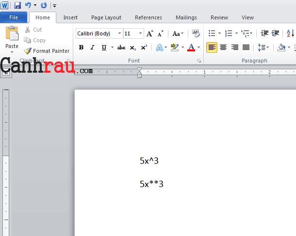 Cách chèn số mũ trong Word hình 10
