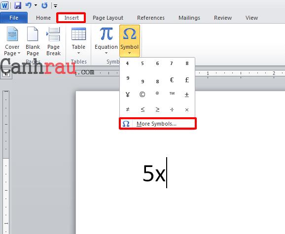 Cách chèn số mũ trong Word hình 4