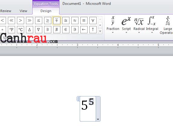 Cách chèn số mũ trong Word hình 9