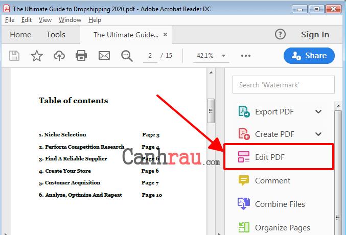 Cách chỉnh sửa file PDF hình 2