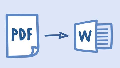 Cách chuyển file PDF sang Word hình 1