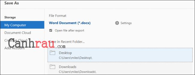 Cách chuyển file PDF sang Word hình 5