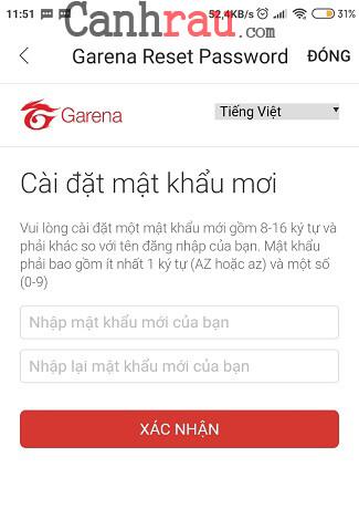 Cách đổi mật khẩu Garena mới nhất hình 9