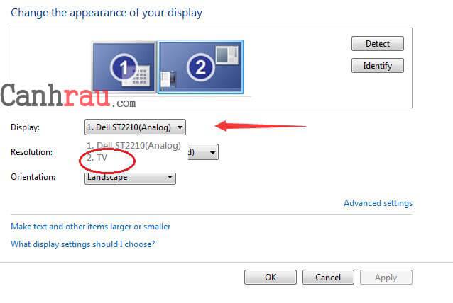 Cách kết nối Laptop với TV hình 6