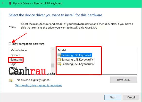 Cách tắt bàn phím laptop hình 11
