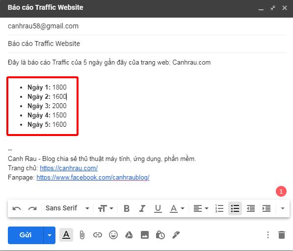 Hướng dẫn gửi mail bằng Gmail hình 7