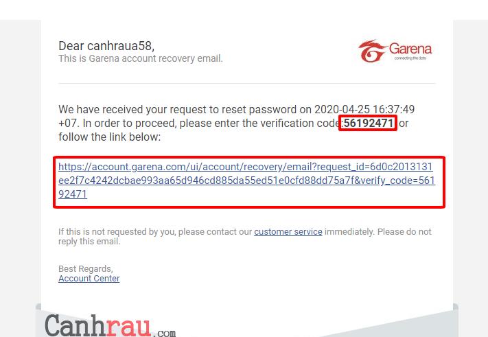 Hướng dẫn lấy lại mật khẩu Garena khi quên hình 11