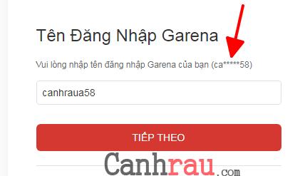 Hướng dẫn lấy lại mật khẩu Garena khi quên hình 14