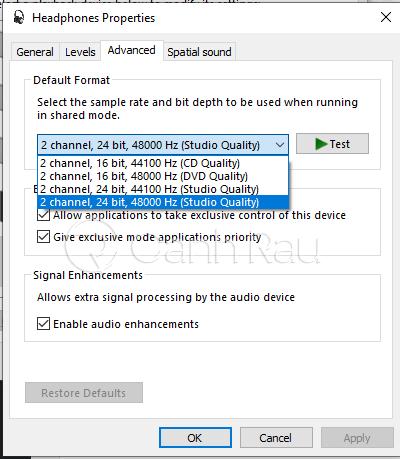 Hướng dẫn sửa lỗi Laptop không nhận tai nghe hình 10