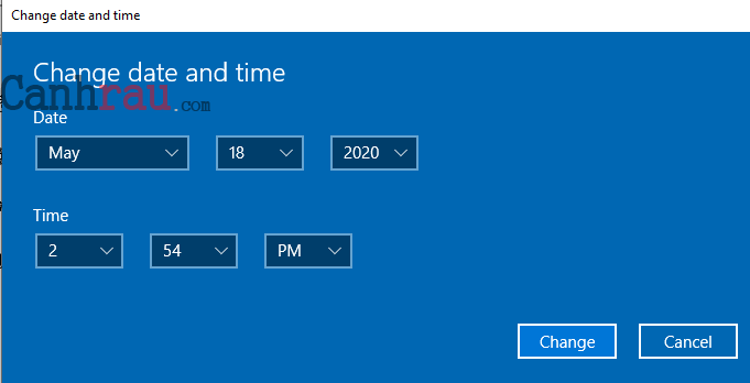 Cách chỉnh thời gian trên Windows 10 hình 4