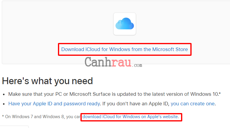 Cách đăng nhập iCloud trên máy tính Windows hình 4