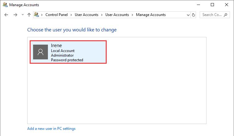 Cách đổi tên user máy tính hình 2