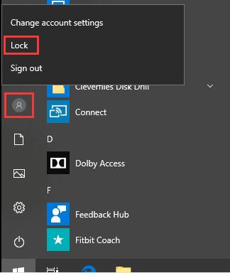 Cách khóa nhanh màn hình máy tính Windows 10 không sử dụng hình 1