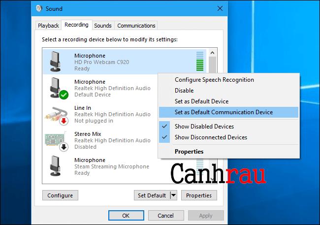 cách sửa lỗi máy tính không nhận microphone hình 8