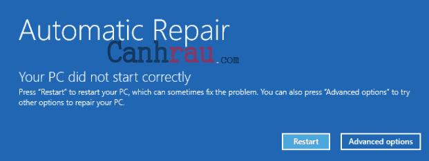 Cách sửa lỗi repair Windows 10 hình 1